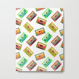 Cassette Pattern Metal Print