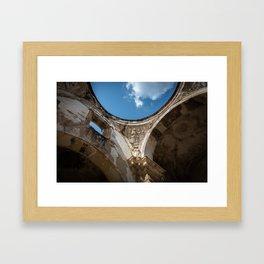Antigua Church Ruins Framed Art Print
