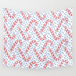 Memphis Christmas Sweets Wall Tapestry