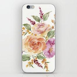 vintge rose bouquet iPhone Skin