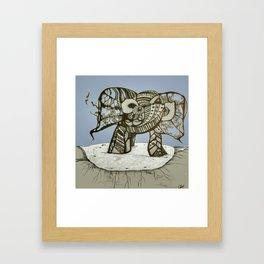 an elephant Framed Art Print