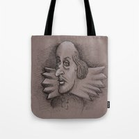 bill Tote Bags featuring Bill by chadizms