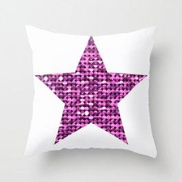 Sparkling Star,pink Throw Pillow