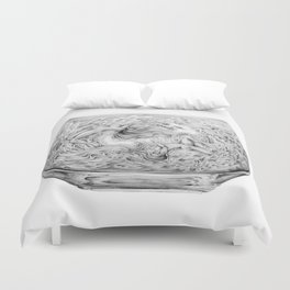 Two Lost Souls Swimming In A Fish Bowl Duvet Cover