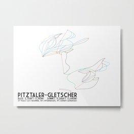 Pitztaler Gletscher, Tirol, Austria - North America Colors - Minimalist Trail Art Metal Print