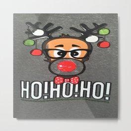 CHRISTMAS DEER Metal Print