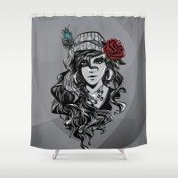 gypsy Shower Curtains featuring gypsy by Erdogan Ulker