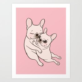 Give your mom a hug on Mother's day, tell her you love her Art Print