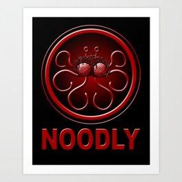 Noodly Art Print