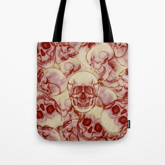 Sequential Skulls Tote Bag