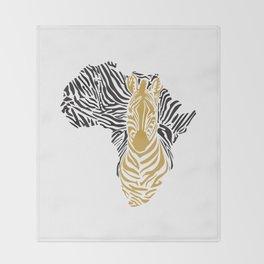 African Tribal Pattern No. 43 Throw Blanket