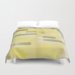 Stasis Gray & Gold 1 Duvet Cover