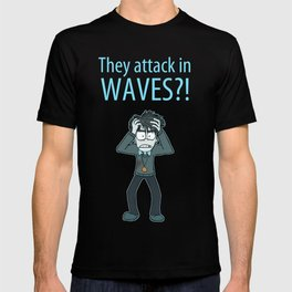 Guardian Ghost- THEY COME IN WAVES T-shirt