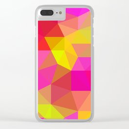 Citrus Candy Low Poly Clear iPhone Case