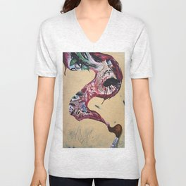 Brushstroke Unisex V-Neck