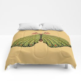 green moth (ORIGINAL SOLD). Comforters