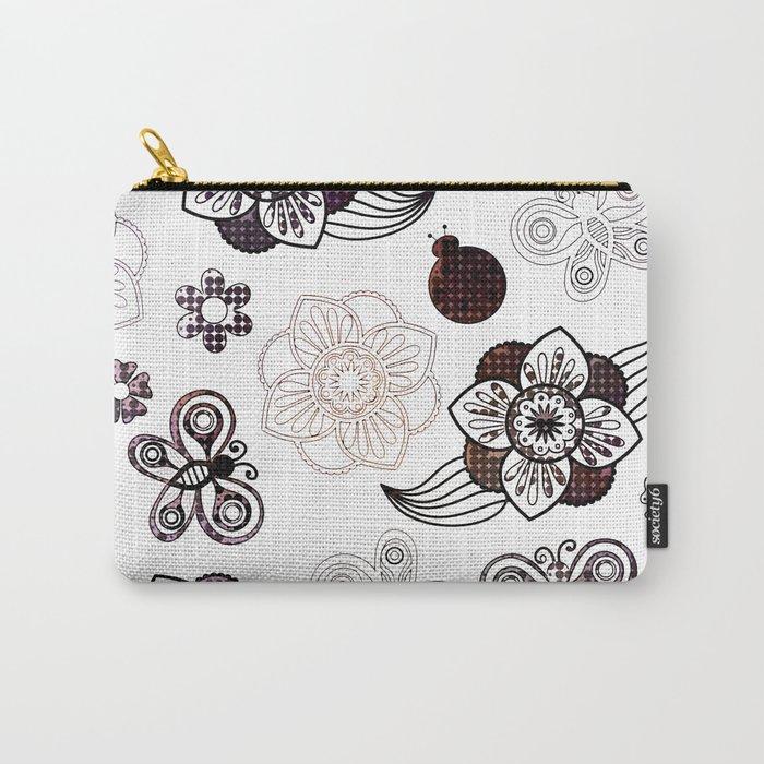 Pop Art Spring Garden Carry-All Pouch