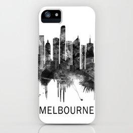 Melbourne Australia Skyline BW iPhone Case