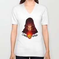 dark souls V-neck T-shirts featuring Dark Souls - Chaos Witch Quelana by Vivid-K
