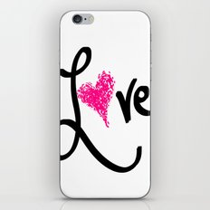 Love with your heart iPhone & iPod Skin