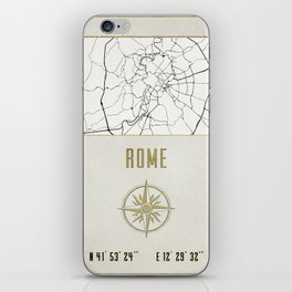 Rome - Vintage Map and Location iPhone Skin