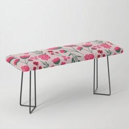 Pink Poppies Seamless Illustration Bench
