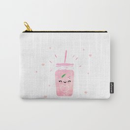 Cute kawaii smoothie - happy foodie art Carry-All Pouch