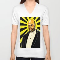"fresh prince V-neck T-shirts featuring Fresh Prince - ""The Ascension of James/Phil"" by hawkeyesour"