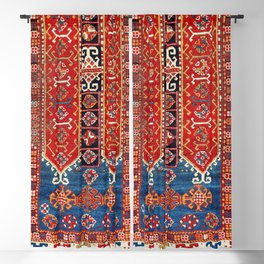 Kazak Southwest Caucasus Carpet Fragment Print Blackout Curtain