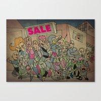 sale Canvas Prints featuring Sale by Matt Jeffs