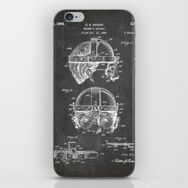 Welding Goggles Patent - Welder Art - Black Chalkboard iPhone Skin