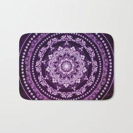 Purple Glowing Soul Mandala Bath Mat