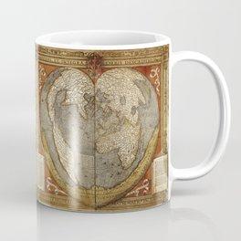 Heart-shaped projection map Coffee Mug