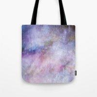cosmos Tote Bags featuring Cosmos by Angela Fanton