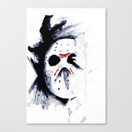 Unstoppable - Jason Voorhees - Watercolor Art Print Canvas Print