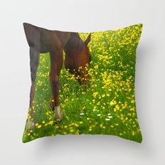 Enjoying The Wildflowers Throw Pillow