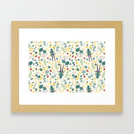 Cashew Nuts Pattern (Version 1) Framed Art Print