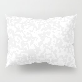 Small Spots - White and Pale Gray Pillow Sham