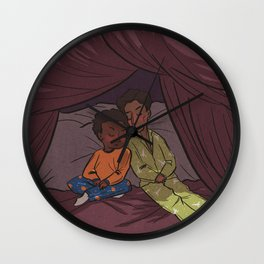 Troy and Abed's Pillow-Blanket Fort Wall Clock