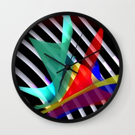 bicubic waves in opart design -1- Wall Clock