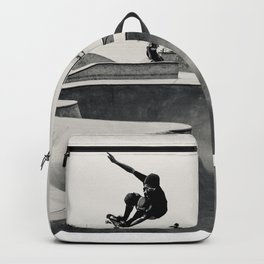 Skateboarding Print Venice Beach Skate Park LA Backpack