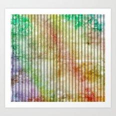 Pastel Blinds Art Print