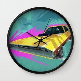 1970 Dodge Challenger Drift Wall Clock