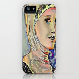 Hooded Girl Watercolor Digitized iPhone Case