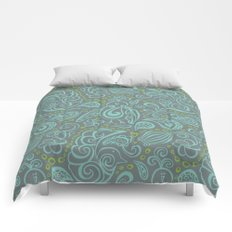 Festooned Feathered Friends Comforters