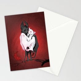 Bats in Love Stationery Cards