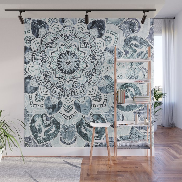 MOON SMILE MANDALA Wall Mural