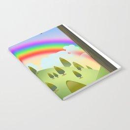 Happy Rainbow Landscape Notebook
