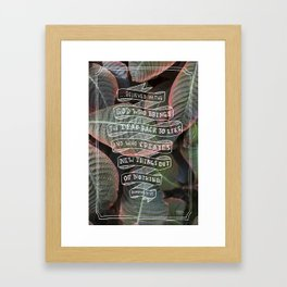 New Things Out of Nothing     Romans 4:17 Framed Art Print