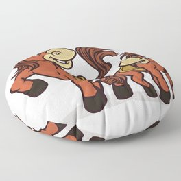 Horse with baby horse Floor Pillow